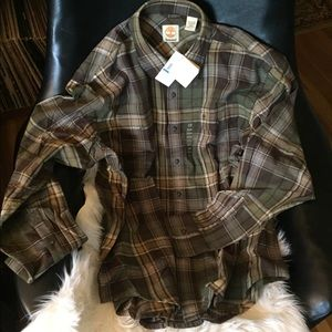Men's XL Timberland flannel shirt New with tags